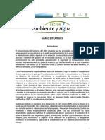 Marco Estrategico Del Sector Ambiente y Agua