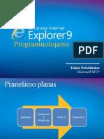 Internet Explorer 9 Programuotojams