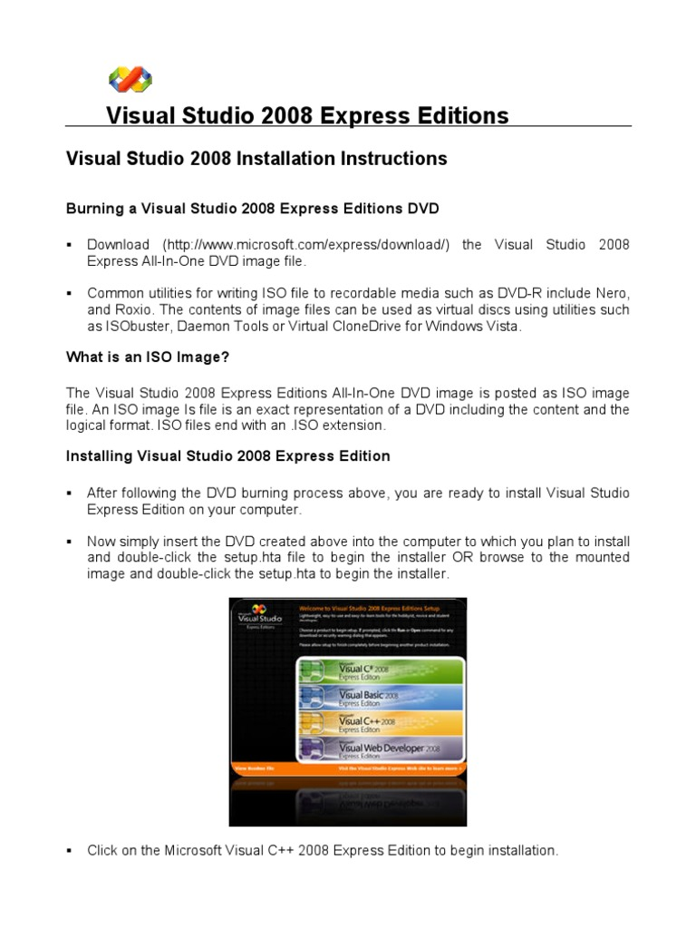 visual studio 2008 express download