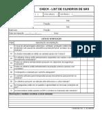 F QSMS 032 Rev 2 - Check List de Cilindros de Gás