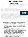 COST OF POOR QUALITY AND ACTIVITY-BASED COSTING