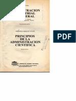 Principios de la Administración Científica - Frederick Taylor