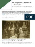 análise de fotografias e atividades de aprendizagem