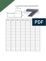 Formato de Datos - Esquina de Remate Lados Diferentes