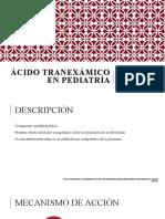 Ácido tranexámico en pediatría