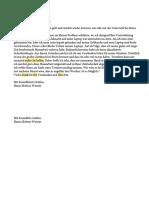 Schreiben Modeltest 1 Teil 2
