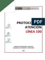 MIMP Protocolo de Atencion Linea 100