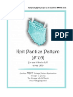 Doll Panties - Knitting Pattern - 18-Inch Doll