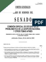 COMPARECENCIA EN EL SENADO DE CORA 2010