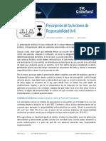 SENTENCIAS RELEVANTES - RC - MAYO 2021 - Prescripción de Las Acciones de Responsabilidad Civil
