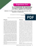 Comportamento à compressão de argamassas com fibras vegetais da amazonia