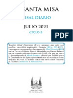 MISAL JULIO 2021