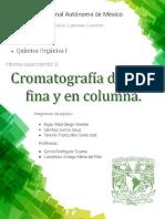Informe. Cromatografia en capa fina y columna