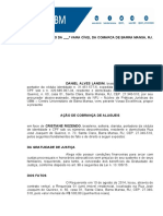 AÇÃO DE COBRANÇA DE ALUGUEIS (DANIEL ALVES LANDIM)