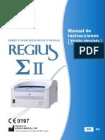 REGIUS  Sigma II  OPERATION MANUAL Spanish_A5ERBC01ES03 (1)