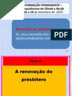 Renovação do presbítero