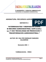 SEPARATA GUIA CONTENIDOS I. El RECURSO AGROINDUSTRIAL CAFÉ (Coffea sp.) Y SUS TECNOLOGÍAS DE PRODUCCIÓN Y TRANSFORMACIÓN AGROINDUSTRIAL. 2021-I. (1)