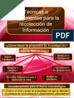 Técnicas e instrumentos para la recolección de la información