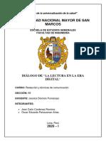 """DIÁLOGO DE """"LA LECTURA EN LA ERA DIGITAL"""