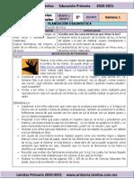 Plan Diagnóstico - 5to Grado Ciencias Naturales (2020-2021)