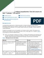 Manuals codigos de fallas Dell Latitud