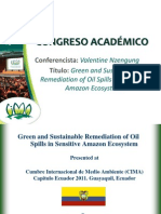 Green and Sustainable Remediation of Oil Spills in Sensitive Amazon Ecosystem - VALENTINE NZENGUNG