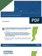 Placas del gobierno de Santa Fe con las nuevas medidas sanitarias