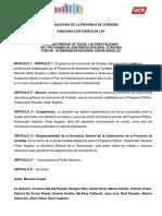 Proyecto Ley Obligatoriedad PAICOR