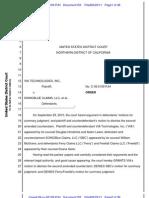 Via Technologies v. SonicBlue Claims Contract MSJ