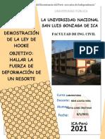 DEMOSTRACIÓN DE LA LEY DE HOOKE