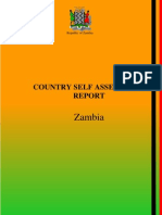 Zambia - APRM Country Self  Assessment