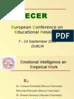 ECER Dublin[1]EMOTIONAL INTELLIGENCE[1][1]