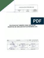 MT8-MTI-INS-014_VER00 (Pilotaje de tubería  para Instalación de muerto de  Anclaje  - Plataforma 57X)