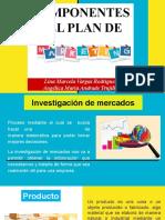 COMPONENTES DEL PLAN DE MARKETING