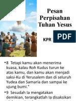 Pesan Perpisahan Tuhan Yesus