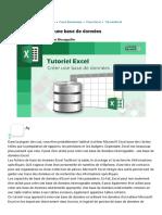 Tutoriel Excel _ créer une base de données