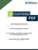 2.2. Presentación de los lineamientos de los organismos internacionales
