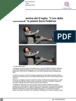 """Urbino Teatro Urbano, il 9 luglio in Piazza Duca Federico """"L'oro della commedia"""" - Vivereurbino.it, 8 luglio 2021"""
