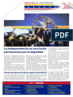 Venezuela Informează| Buletin Săptămânal 09.07.2021 - versiune limba spaniola