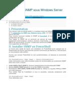 Procedure Configurer SNMP sous Windows Server 2012 R2