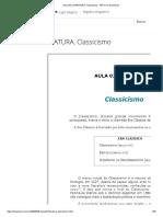 AULA 03 LITERATURA. Classicismo - PDF Free Download