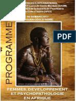 Programme Detaille Du Congres