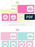 Mother's Day Printable Enclosure Cards, Gift Tags and Cupcake Toppers - 4 Colorways