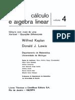 Cálculo e Álgebra Linear - Volume 4 - Wilfred Kaplan
