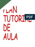 PLAN TUTORIAL DE AULA
