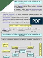 Transporte ferroviário - comparação com outras modalidades de transporte.