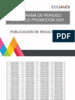 Resultados Promoción Sabático 2021