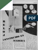 Reloj Hecho de Madera