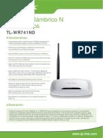 TL-WR741ND_V4.0_Datasheet_mx