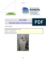 DINEPA 1.2.2 FIT1 Chlorination stations Chlorination by dosing pumps